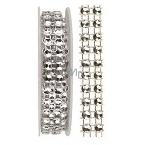 Dekorační řetěz stříbrný, 1 x 75 cm