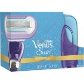 Gillette Venus Swirl holicí strojek pro ženy + náhradní hlavice 3 kusy + etue, kosmetická sada