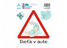 Arch Autosamolepka Dieťa v aute - batole chlapeček SK 15 x 17,5 cm