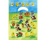 Anděl Igelitová taška 32 x 20 x 4 cm Zajíčci na louce