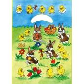 Anděl Velikonoční igelitová taška Zajíčci na louce 32 x 20 x 4 cm