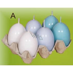 Lima Vajíčko s vůní svíčka modrá 40 x 60 mm sada 6 kusů