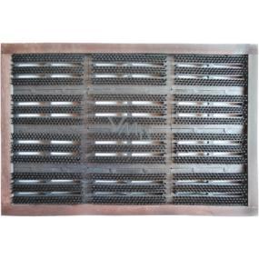 Spokar Rohožka kartáčová zatloukaná syntetická vlákna PA, plastové těleso dřevěný rám 12 dílů 41,5 x 63 cm