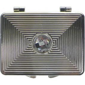 Zrcátko dvojité hranaté 7 x 5,5 x 0,7 cm 60160