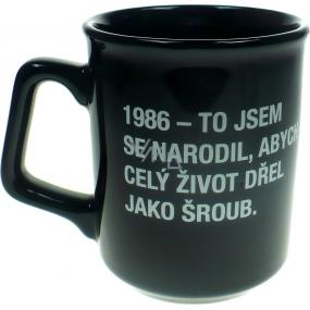 Albi Black & White Hrnek 1986 - To jsem se narodil, abych.. 260 ml
