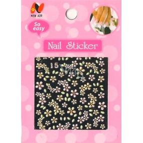 Nail Stickers 3D nálepky na nehty 10100 15 1 aršík
