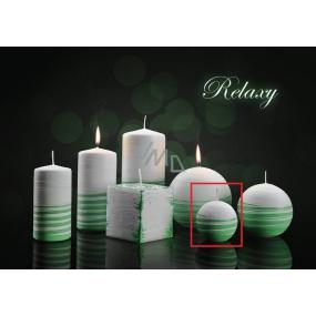 Lima Aromatická spirála Relaxy svíčka bílo - zelená koule 60 mm 1 kus