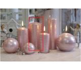 Lima Galaxy svíčka růžová válec 70 x 150 mm 1 kus