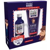Blondépil Homme Olej na vousy pro muže 50 ml + čisticí gel na obličej a vousy 150 ml, kosmetická sada