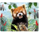 Prime3D pohlednice - Panda Červená 16 x 12 cm