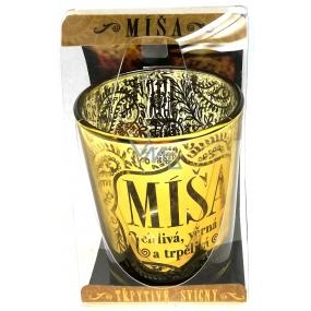Albi Třpytivý svícen ze skla na čajovou svíčku MÍŠA, 7 cm
