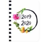 Albi Diář týdenní 18 měsíční 2019 - 2020 Květiny 2,5 cm x 17 cm x 1,3 cm