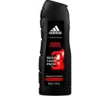 Adidas Team Force 3v1 sprchový gel na tělo, vlasy a obličej pro muže 400 ml