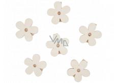Dřevěné kytky s kolíčkem 4 cm 6 kusů