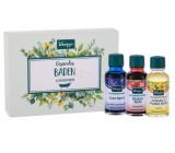 Kneipp Lavender olej do koupele 20 ml + Arnica olej do koupele 20 ml + Relaxation olej do koupele 20 ml, sada bylinkových olejů do koupele