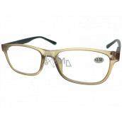 Berkeley Čtecí dioptrické brýle +2,5 plast světle hnědé, černé postranice 1 kus MC2184