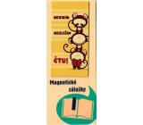 Albi Magnetická záložka do knížky Tři opice 8,7 x 4,4 cm