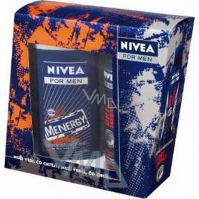 Nivea Men Kazmenenergy sprchový gel 250 ml + antiperspirant sprej 150 ml kosmetická sada