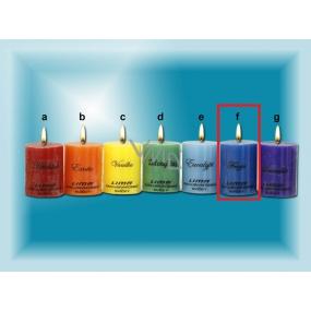 Lima Čakra Frezie vonná svíčka modrá válec 50 x 65 mm 120 g