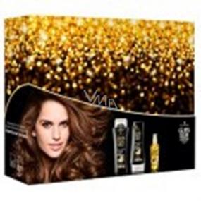 Gliss Kur Ultimate Repair regenerační šampon na vlasy 250 ml + balzám na vlasy 200 ml + denní elixír s oleji pro poškozené a suché vlasy 75 ml dárková sada