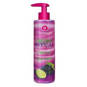 Dermacol Aroma Ritual Hrozny s limetkou Antistresové mýdlo na ruce 250 ml