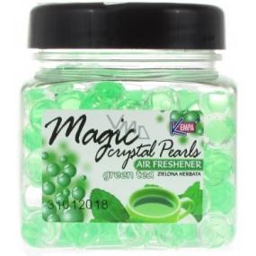 Kempa Magic Crystal Green Tea gelové kuličky osvěžovač vzduchu 150 g