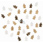 Andělé ze dřeva 2 cm 24 kusů