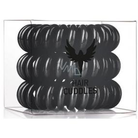 HH Simonsen Hair Cuddles Black gumičky do vlasů černé 3 kusy