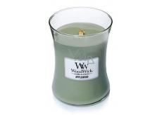WoodWick Applewood - Jabloňové dřevo vonná svíčka s dřevěným knotem a víčkem sklo střední 275 g