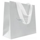 Jeanne en Provence Dárková papírová taška střední 33 x 24 x 10 cm šedá s logem