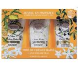 Jeanne en Provence Verveine Agrumes - Verbena a Citrusové plody krém na ruce 75 ml +Tajemný jasmín krém na ruce 75ml + Oliva krém na ruce 75m dárková sada
