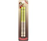 Nekupto Hobby dřevěné tužky Vášnivý sportovec 2 kusy