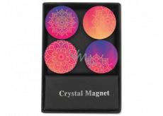 Albi Krystalové magnetky kruhy Mandala 4 kusy