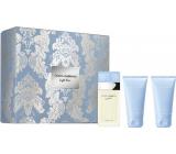 Dolce & Gabbana Light Blue toaletní voda pro ženy 50 ml + sprchový gel 50 ml + tělový krém 50 ml, dárková sada
