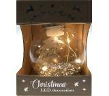 Epee Stromeček stříbrný zářivá ozdoba s LED - Chvíle pohody na zavěšení 6 cm