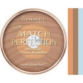 Rimmel London Match Perfection Bronzer pudr 001 Light 15 g