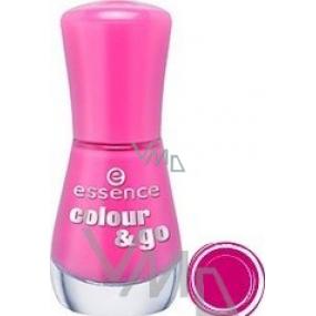 Essence Colour & Go lak na nehty 108 Ultimate Pink 8 ml