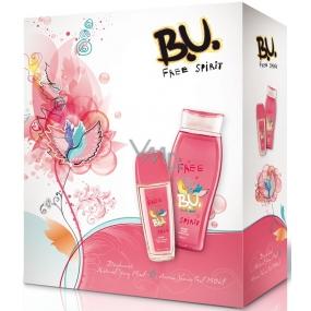 B.U. Free Spirit parfémovaný deodorant sklo pro ženy 75 ml + sprchový gel 250 ml, pro ženy dárková sada