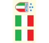 Arch Tetovací obtisky na obličej i tělo Italská vlajka 3 motiv