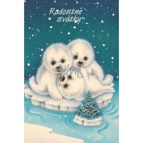 Nekupto Blahopřání Radostné svátky-tuleň