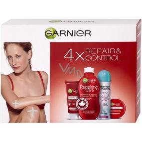 Garnier Repair & Control tělové mléko suchá pleť 250 ml + tělový krém suchá pleť 50 ml + Mineral Action Control deodorant sprej150 ml + krém na ruce 100 ml, kosmetická sada
