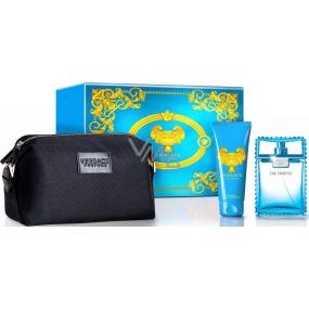 Versace Eau Fraiche Man toaletní voda 100 ml + sprchový gel 100 ml + kosmetická taška, dárková sada
