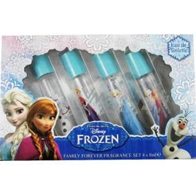 Disney Frozen toaletní voda s kuličkovým aplikátorem vůně 4 vůně pro malé slečny 4 x 8 ml