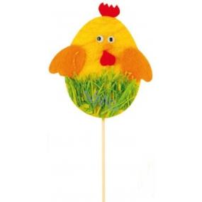 Kuřátko z filcu žluté zápich 10 cm + špejle