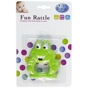 First Steps Chrastítko zvířátko zelená žabka PS181