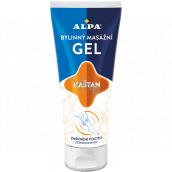 Alpa Kaštan bylinný masážní gel na unavené nohy 100 ml