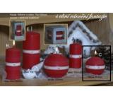 Lima Aura Vánoční fantazie vonná svíčka červená koule 80 mm 1 kus