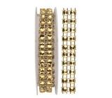 Dekorační řetěz zlatý, 1 x 75 cm