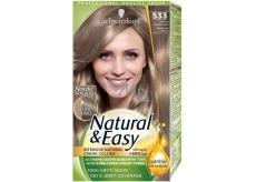 Schwarzkopf Natural & Easy barva na vlasy 533 Intenzivní popelavě plavý