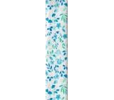 Nekupto balící papír Modro-zelený květiny 70 x 150 cm 868 40 BF